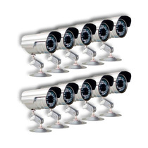 Kit 10 Cameras Seguranca Infra Ccd Digital 36 Leds 30 Mts