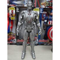 Boneco Marvel The Avengers 30cm C/ Luz E Som - Articulado