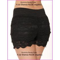 Shorts Saia Renda Branco Nude Femin Dança Funk Rio Cn217 Pt