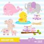 Kit Scrapbook Digital Animais Baby Imagens Clipart Cod13