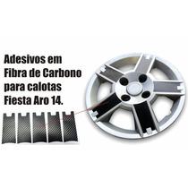 Kit Adesivos P/ Calotas Ford Fiesta 14 Acessórios Esportiva