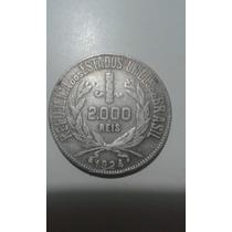 Moeda De Prata Do Brasil 2000 R Mocinha Antiga