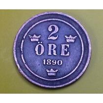 Moeda Da Suécia - 1890 - Mbc - Difícil