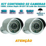 Kit 2 Camera Infravermelho 1500l Smart Ir Cut 50mts Real Boa