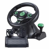 Volante Multilaser 4 Em 1 Xbox 360 Ps2 Ps3 E Pc Pedal Marcha