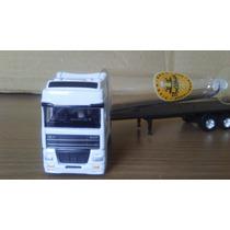 Caminhão Daf Carreta Prancha Miniatura Escala 1/87 Coleção