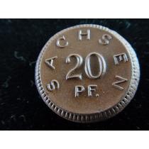 20 Pfennig 1921 Alemanha Raríssimo Exemplar Em Porcelana