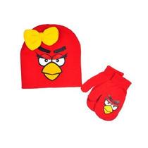 Beanie & Luva Jogo Angry Birds Birds Vermelho Com Curva Etab