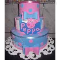 Bolo Fake, Cenográfico Tema Peppa Pig