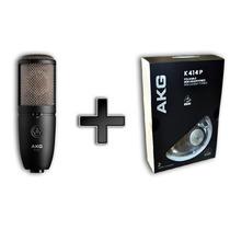 Kit Akg Microfone P420 E Fone De Ouvido K414p