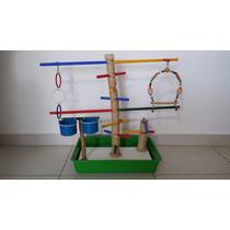 Playground Brinquedo Calopsita Agapornis Periquitos Aves Gg!