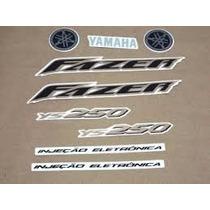 Adesivo Kit Faixa Jogo Yamaha Fazer Ys 250 2007 Vermelha