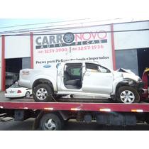 Sucata Toyota Hilux Srv Diesel 3.0 2012 Peças Motor Lataria
