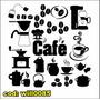 Adesivo De Parede Kit Café E Acessórios Xicara Bule Will0085