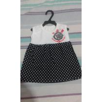 Vestido Corinthians Bebê Tamanho 0 A 12meses