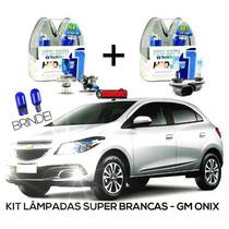 Kit Lâmpadas Super Brancas Tech One Gm Onix H4 + H27
