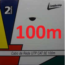 Cabo Rede Cat5e Azul 100m Utp Lan 4 Pares Metros Leadership