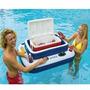 Bar Flutuante Cooler Boia Inflável Piscinas Intex 72 Latas