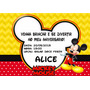 Convites Personalizado Mickey 50 Unidades 3 Opções De Modelo