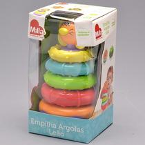 Brinquedo Empilha Argola Leão Infantil Original Milla