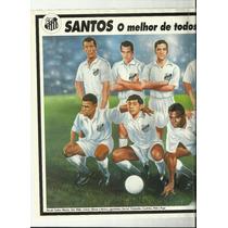 Poster Santos O Melhor De Todos Os Tempos 1994 Placar
