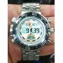 Relogio Atlantis Sports Aqualand J3400 Metal Grande Branco