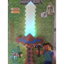 Espada Do Minecraft Importada Com Luz E Com Música