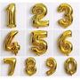 Balões Metalizados Em Forma De Numero 40 Cm 3,50