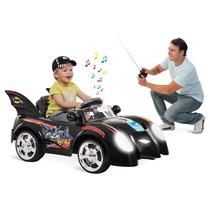 Carro Elétrico Infantil Batman R/c 6v Bandeirante Controle