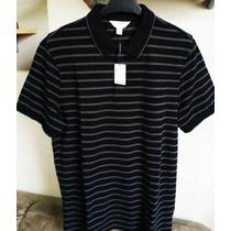 Camisa Polo Calvin Klein Masculina Tm M /listras