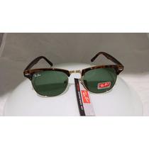 Óculos Sol Ray-ban Clubmaster Original Tartaruga Made Italy
