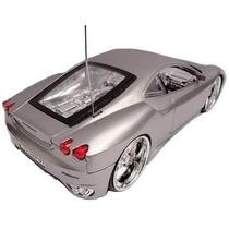 Ferrari Controle Remoto Acende Farol Led Nas Rodas Prata
