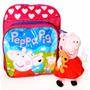 Mochila Infantil Peppa Pig Pig 28cm + Pelúcia 23cm