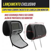 Capa Para Cobrir Encosto De Cabeça Preto Bege Cinza Grafite