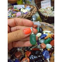Jóia/ Pingente De Pedra Quartzo Verde Natural /3cm