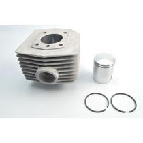 Cilindro 60cc Kit Com Pistão E Anéis Mobylete Bikelete