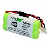 Bateria Para Telefone Sem Fio 2,4v 600mah Aaa Flex Fx-70u