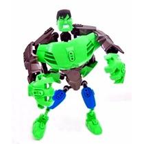 Boneco Hulk Robô Desmontável E Articulável 19cm