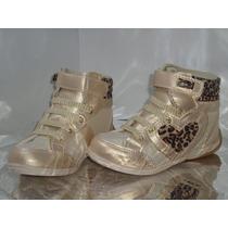 Tenis Sneaker Com Velcro Infantil Feminino - Cód 357