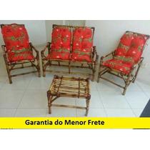 Jogo De Vime / Bambu Super Oferta Sofá Poltronas Cadeiras