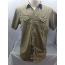 Camisa Masculina Polo Ralph Lauren Militar Tam M Original