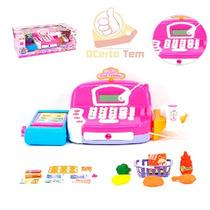 Máquina Registradora Infantil Com Luz E Som + Acessórios