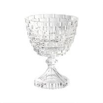 Vaso Taça Brick Pequeno Transparente Em Vidro - 14,5x11,5 Cm