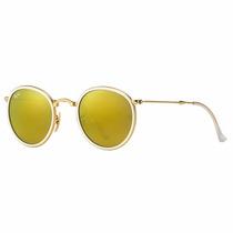 Óculos De Sol Ray Ban Round Dobrável Rb3517 Original