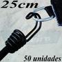 50 Extensor Latex 25cm Gancho Duplo Fixação Lona Lonil Capa
