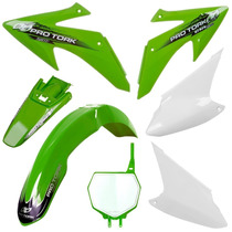 Kit Plasticos Roupa Crf 230 Protork + Number Plate Verde
