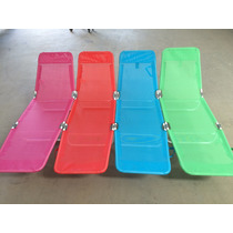 Cadeira Espreguiçadeira - Textilene Ferro Capri Jogo Com 4