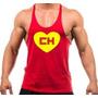 Camiseta Regata Cavada Chapolin Colorado, Duff, Flash, Gym.