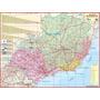 Mapa Geo Político Da Região Sudeste Do Brasil - Frete Grátis