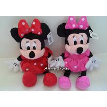 Minnie Rosa E Vermelha Kit C/2 Pelucias